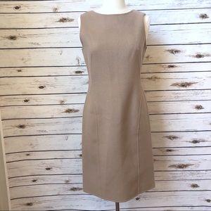 New Talbots Sheath Dress Womens Size 4 Tan Wool